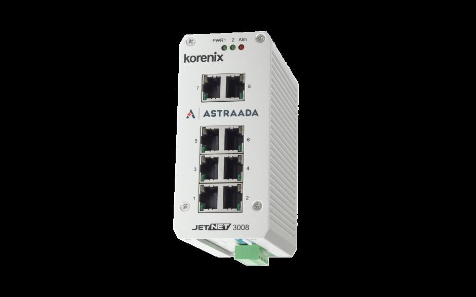 Switch niezarządzalny przemysłowy, Ethernet - 8-portowy (100/1000 Base-TX)