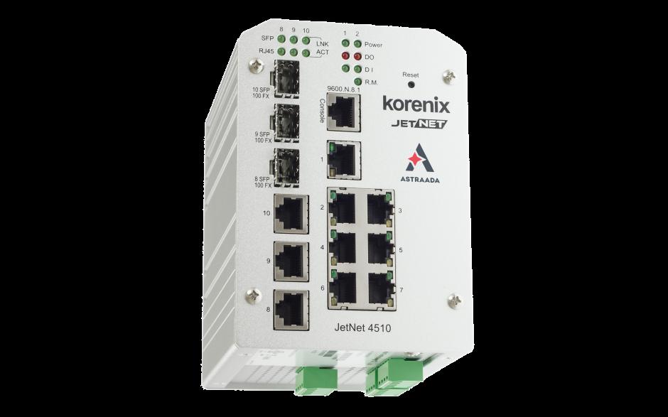 Switch zarządzalny przemysłowy, Ethernet - 10-portowy (7 x 10/100 Base-TX + 3 x RJ45/SFP  - 100 Base-X), RING, Modbus TCP 4