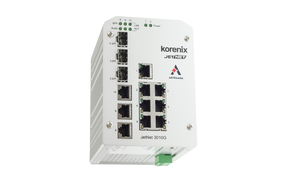 Switch niezarządzalny przemysłowy, Ethernet - 10-portowy (7 x 10/100 Base-TX + 3 x RJ45/SFP - 1000 Base-X) 4