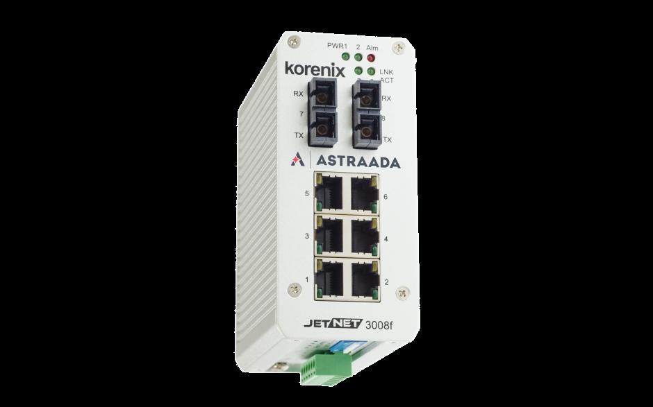 Switch niezarządzalny przemysłowy, Ethernet - 8-portowy (6 x 10/100 Base-TX + 2 złącza SC singlemode (100 Base-X) 2