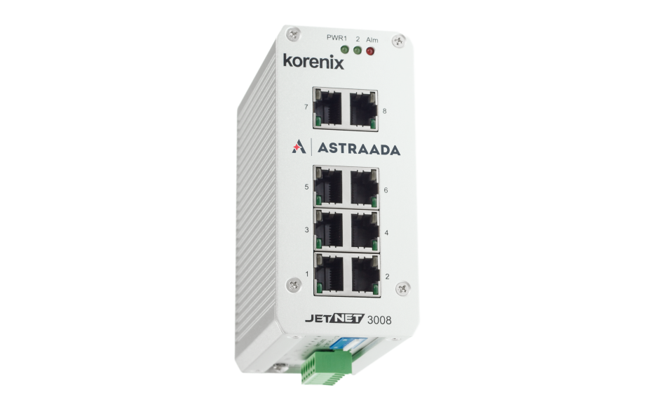 Switch przemysłowy, niezarządzalny, Ethernet - 8xRJ45 (10/100 Base-TX) 4