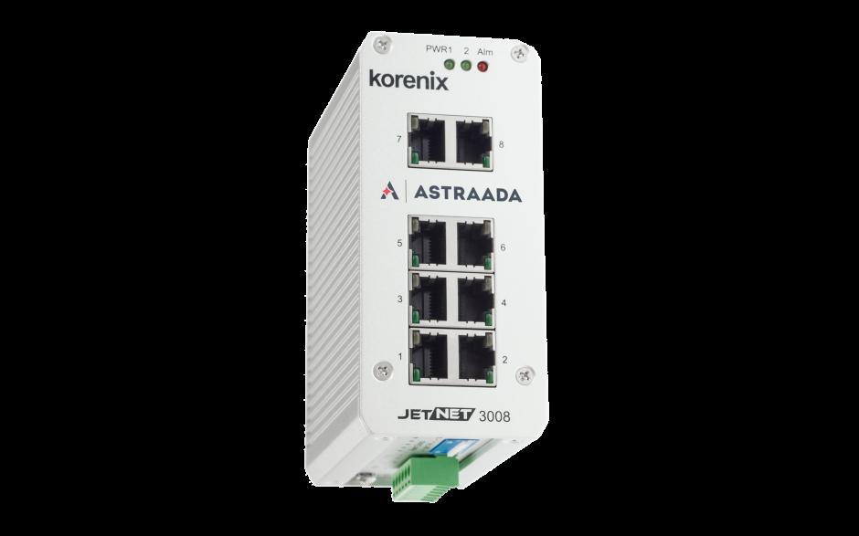 Switch niezarządzalny przemysłowy, Ethernet - 8-portowy (100/1000 Base-TX) 4