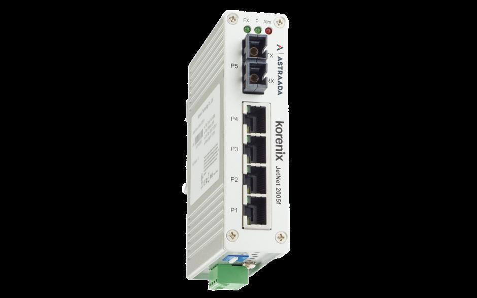 Switch niezarządzalny przemysłowy, Ethernet - 5-portowy (4 x 10/100 Base-TX + 1 złącze multimode - 100 Base-X) 3
