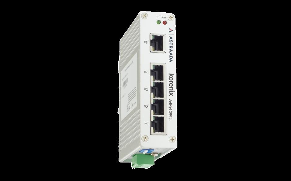Switch niezarządzalny przemysłowy, Ethernet - 5-portowy (10/100 Base-TX) 2