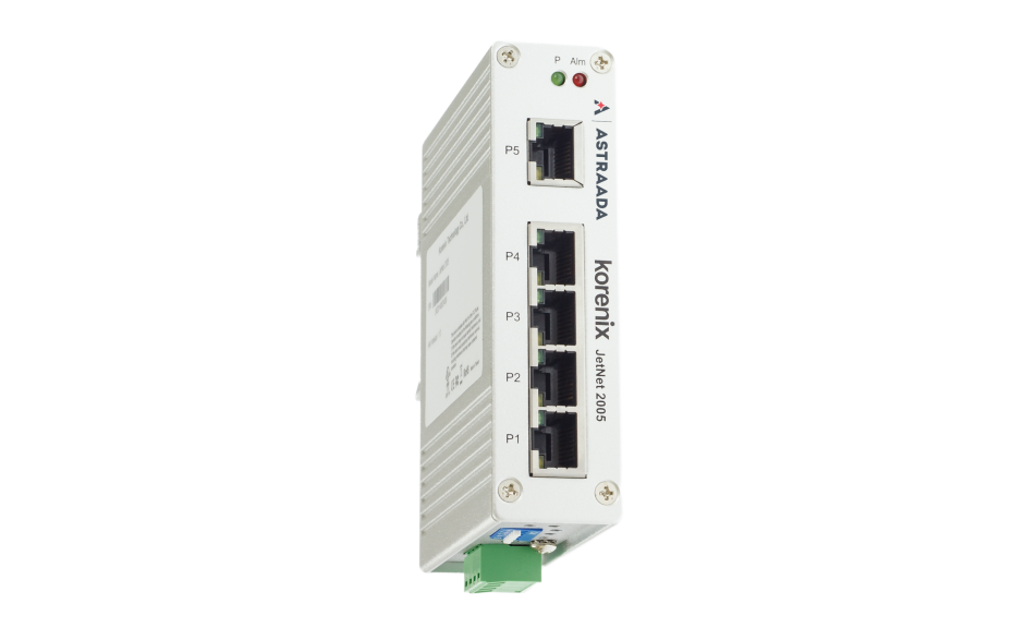 Switch przemysłowy, niezarządzalny, Ethernet - 5xRJ45 (10/100 Base-TX), poszerzony zakres temperatur 4