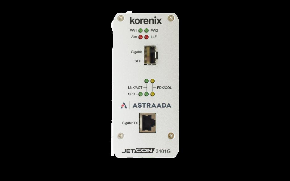 Konwerter światłowodowy Ethernet 1x 10-100-1000TX - RJ45, 1xGigabit - SFP, Kompaktowy 4