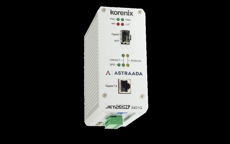 Konwerter światłowodowy Ethernet 1x 10-100-1000TX - RJ45, 1xGigabit - SFP, Kompaktowy 3