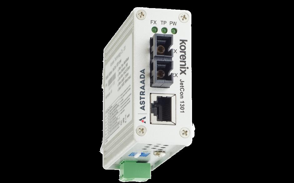 Konwerter światłowodowy Ethernet 1x RJ45, 1xSC, SingleMode, kompaktowy 3