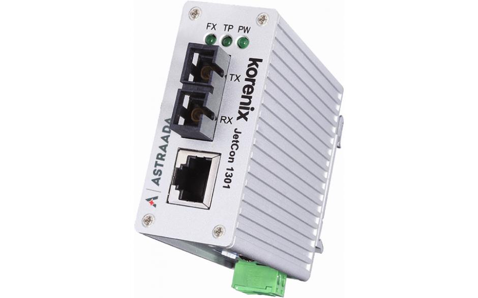 Konwerter światłowodowy Ethernet 1x RJ45, 1xSC, SingleMode, kompaktowy