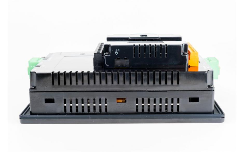 "Sterownik PLC z HMI XL7e - 7"", 12 DI (24 VDC), 12 DO (24 VDC), 2 AI (0-10V, 0-20mA); zasilanie 9-30VDC 6"