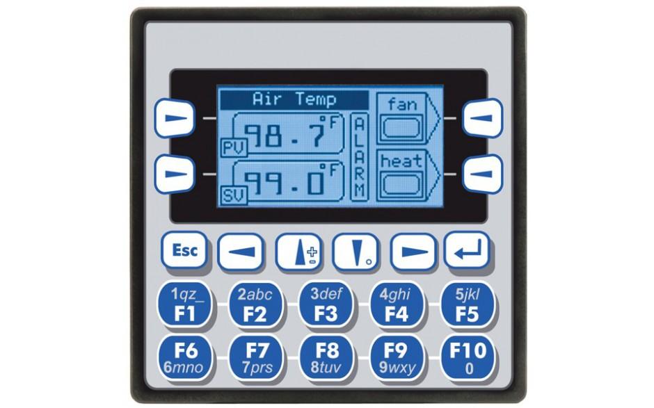 """XLe; PLC + HMI 2.25""""; 2 x RS232/485; 12 DI (24VDC), 12 DO (24VDC), 2 AI (0-10V, 0-20mA, TC, RTD), 2 AO (0-10V, 0-20mA); zasilanie 9-30VDC"""