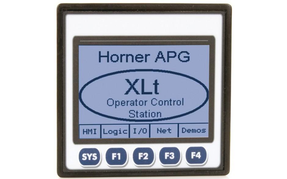 """XLt; PLC + HMI 3.5"""" dotykowy""""; 2 x RS232/485, CAN; 12 DI (12/24VDC), 12 DO (24VDC), 6 AI (0-10V, 0-20mA, TC, RTD), 4 AO (0-10V, 0-20mA); zasilanie 9-30VDC"""