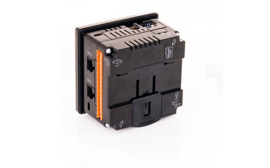 "Sterownik PLC z HMI XLe - 2.25"", CAN; 24 DI (24VDC), 16 DO (24VDC), 2 AI (0-10V, 0-20mA); zasilanie 9-30VDC 3"