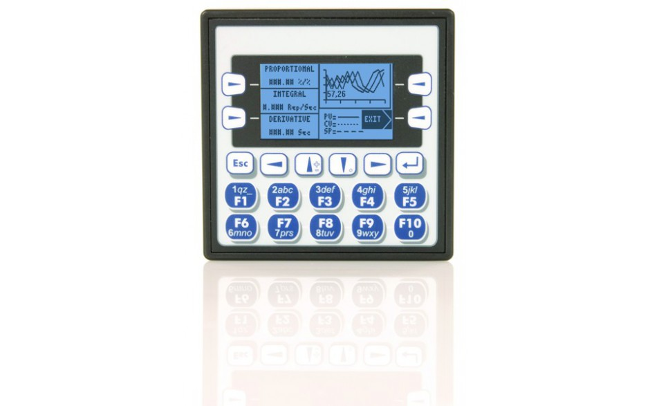 "Sterownik PLC z HMI XLe - 2.25"", CAN; 12 DI (12/24VDC), 12 DO (24VDC), 6 AI (0-10V, 0-20mA, TC, RTD), 4 AO (0-10V, 0-20mA); zasilanie 9-30VDC 8"