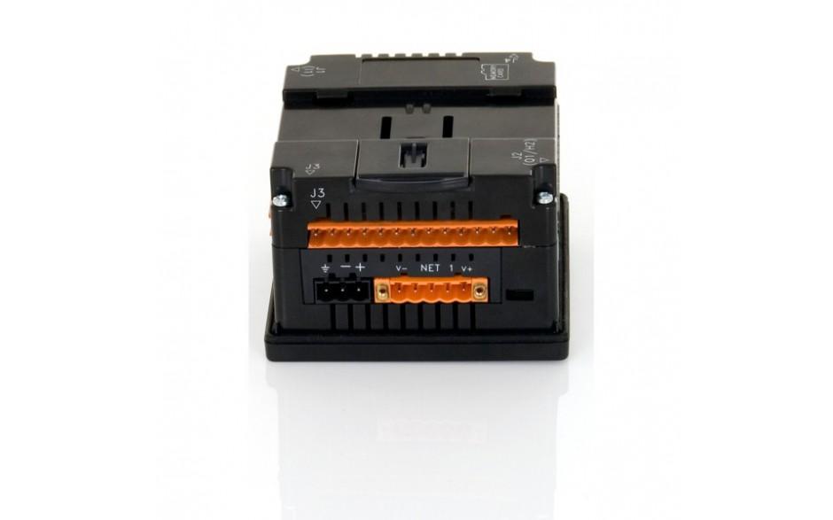 "Sterownik PLC z HMI XLe - 2.25"", CAN; 24 DI (24VDC), 16 DO (24VDC), 2 AI (0-10V, 0-20mA); zasilanie 9-30VDC 9"