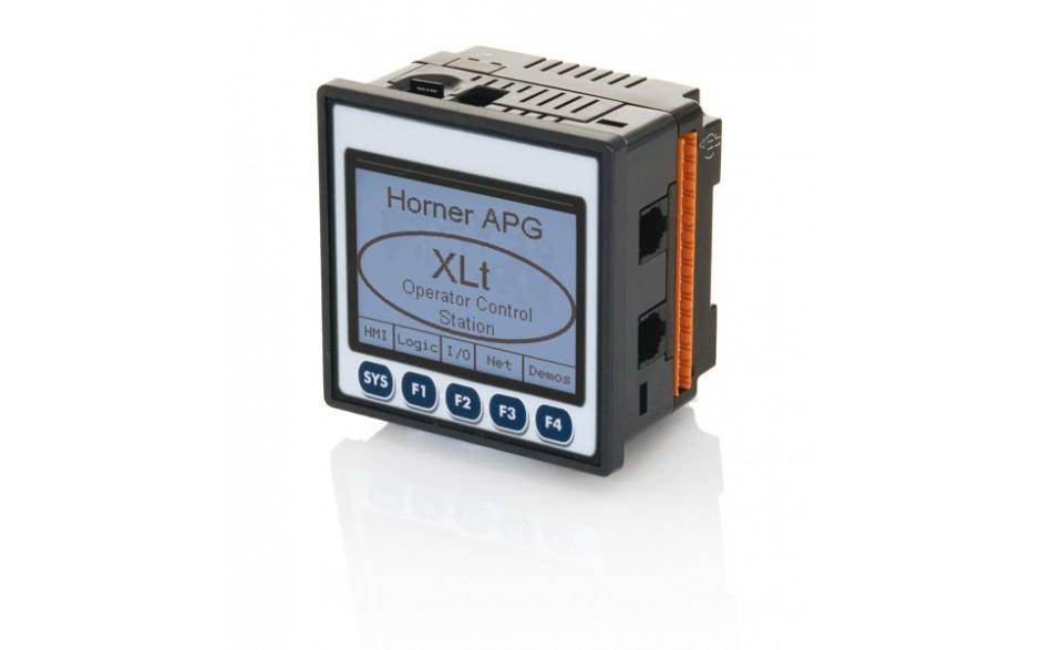 "Sterownik PLC z HMI XLt - 3.5"", 12 DI (24VDC), 12 DO (24VDC), 2 AI (0-10V, 0-20mA, TC, RTD), 2 AO (0-10V, 0-20mA); zasilanie 9-30VDC 8"