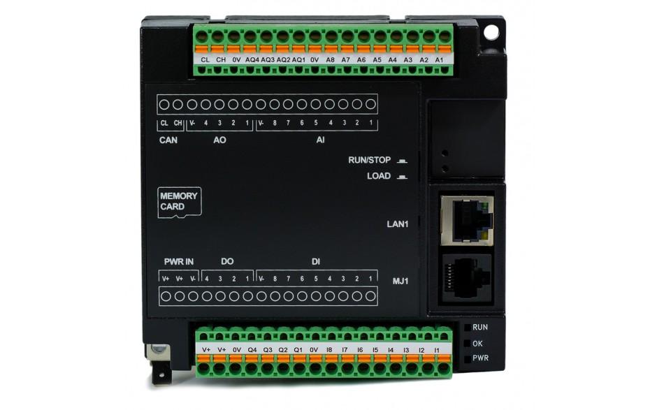 Sterownik PLC RCC972; RS232, Ethernet, CsCAN, MicroSD;  8x AI (0-20mA), 4x AO (0-20mA), 8x DI 24 VDC, 4x DO 24 VDC; zasilanie 9-30 VDC 3