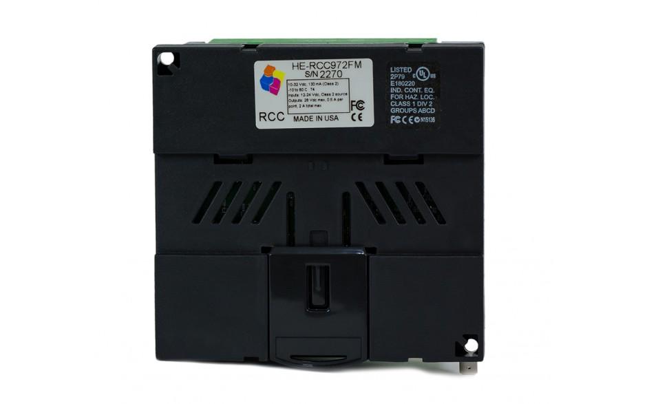 PROMOCJA - Sterownik PLC RCC972; RS232, Ethernet, CsCAN, MicroSD;  8x AI (0-20mA), 4x AO (0-20mA), 8x DI (24VDC), 4x DO (24VDC); zasilanie 9-30 VDC 5
