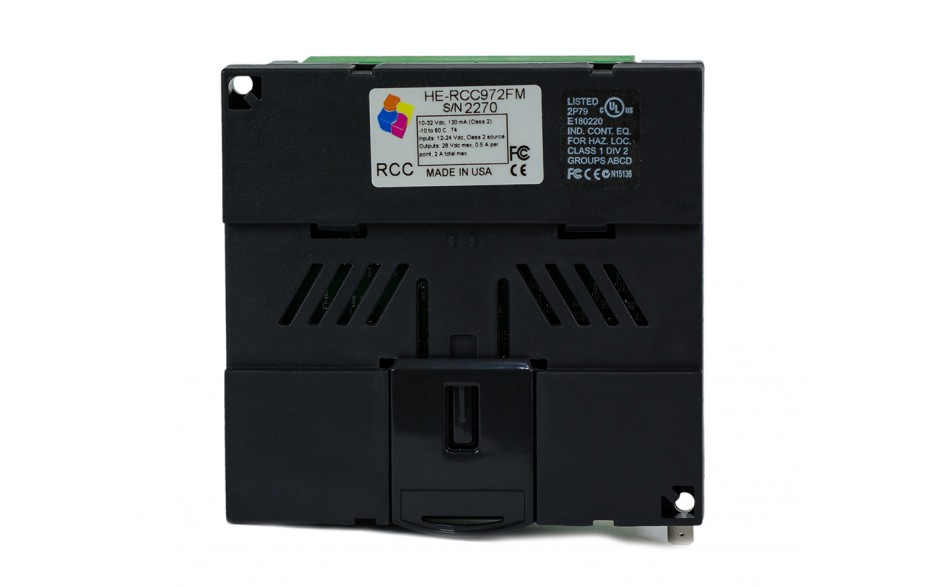 Sterownik PLC RCC972; RS232, Ethernet, CsCAN, MicroSD;  8x AI (0-20mA), 4x AO (0-20mA), 8x DI 24 VDC, 4x DO 24 VDC; zasilanie 9-30 VDC 9