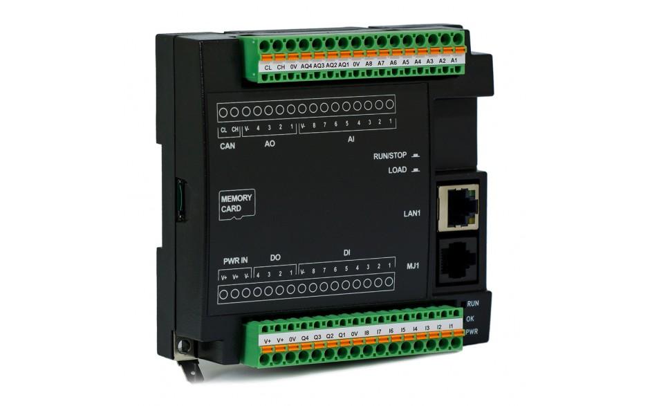Sterownik PLC RCC972; RS232, Ethernet, CsCAN, MicroSD;  8x AI (0-20mA), 4x AO (0-20mA), 8x DI 24 VDC, 4x DO 24 VDC; zasilanie 9-30 VDC 7