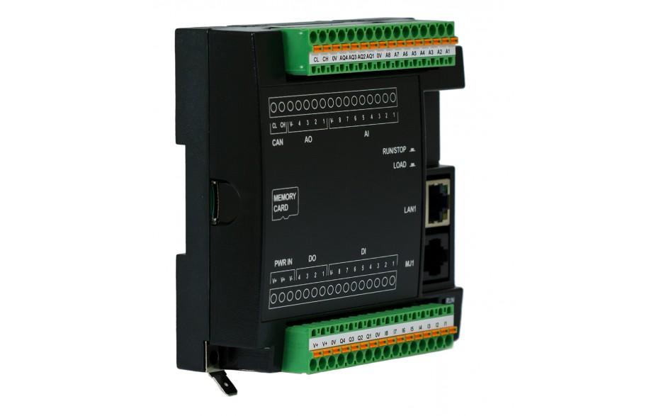 PROMOCJA - Sterownik PLC RCC972; RS232, Ethernet, CsCAN, MicroSD;  8x AI (0-20mA), 4x AO (0-20mA), 8x DI (24VDC), 4x DO (24VDC); zasilanie 9-30 VDC 8