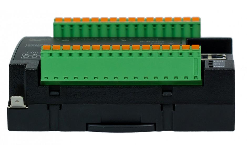 Sterownik PLC RCC972; RS232, Ethernet, CsCAN, MicroSD;  8x AI (0-20mA), 4x AO (0-20mA), 8x DI 24 VDC, 4x DO 24 VDC; zasilanie 9-30 VDC 5