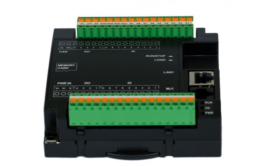 PROMOCJA - Sterownik PLC RCC972; RS232, Ethernet, CsCAN, MicroSD;  8x AI (0-20mA), 4x AO (0-20mA), 8x DI (24VDC), 4x DO (24VDC); zasilanie 9-30 VDC 6