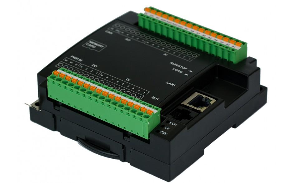 Sterownik PLC RCC972; RS232, Ethernet, CsCAN, MicroSD;  8x AI (0-20mA), 4x AO (0-20mA), 8x DI 24 VDC, 4x DO 24 VDC; zasilanie 9-30 VDC 8
