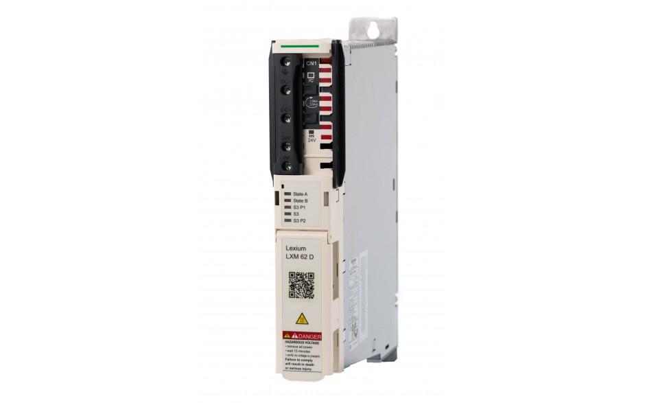 Serwonapęd Lexium 62; moc 2x4,3kW; prąd pracy ciągłej 2x9A; sterowanie Sercos