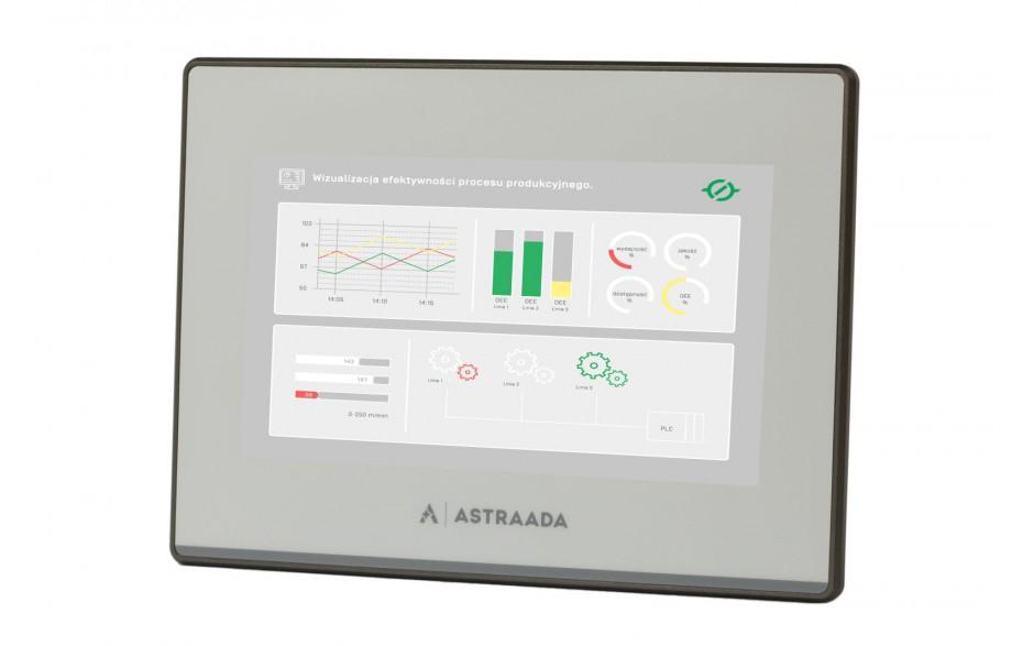 "Dotykowy panel operatorski Astraada HMI, matryca TFT 8"" (800x600, 65k), RS232, RS422/485, 3x RS485, USB Client/Host, Ethernet, 30m gwarancji"