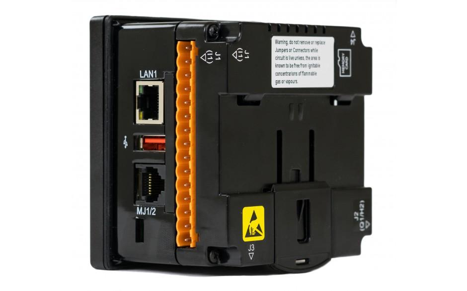 """Sterownik PLC z HMI XL4e - 3.5"""", 12 DI (24 VDC), 12 DO (24 VDC), 2 AI (0-10V, 0-20mA, TC, RTD), 2 AO (0-10V, 0-20mA); zasilanie 9-30VDC 3"""