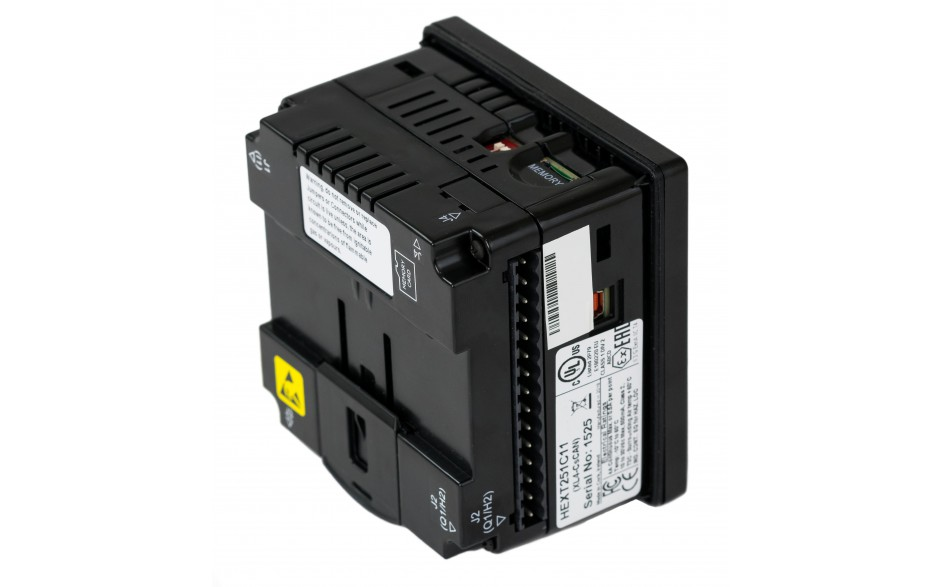 "Sterownik PLC z HMI XL4e - 3.5"", 12 DI (24 VDC), 6 DO (przekaźnikowe 2A), 4 AI (0-10V, 0-20mA); zasilanie 9-30VDC 6"