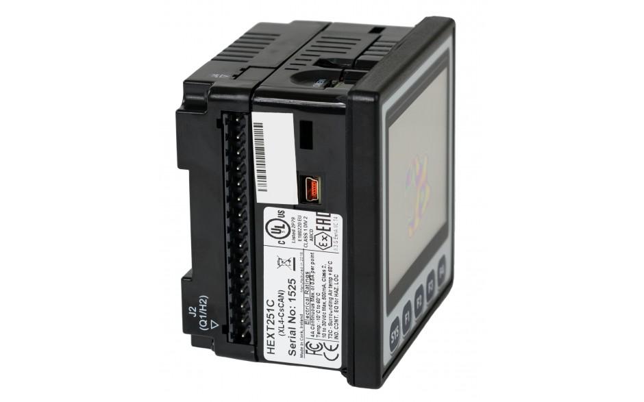 "Sterownik PLC z HMI XL4e - 3.5"", 12 DI (24 VDC), 12 DO (24 VDC), 2 AI (0-10V, 0-20mA); zasilanie 9-30VDC 7"