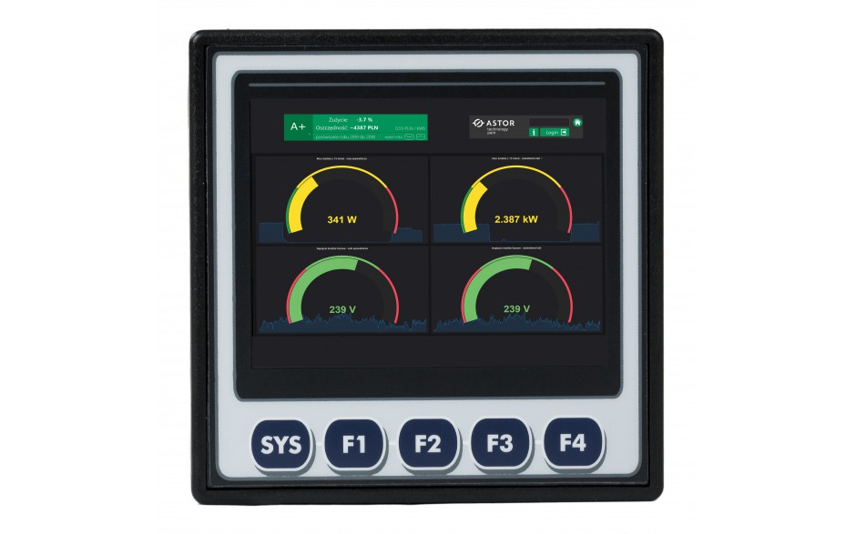 "Sterownik PLC z HMI XL4e - 3.5"", 12 DI (24 VDC), 12 DO (24 VDC), 2 AI (0-10V, 0-20mA); zasilanie 9-30VDC 8"