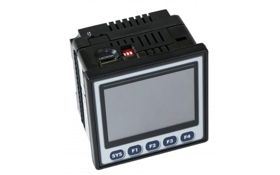 "Sterownik PLC z HMI XL4e - 3.5"", 12 DI (24 VDC), 6 DO (przekaźnikowe 2A), 4 AI (0-10V, 0-20mA); zasilanie 9-30VDC 9"