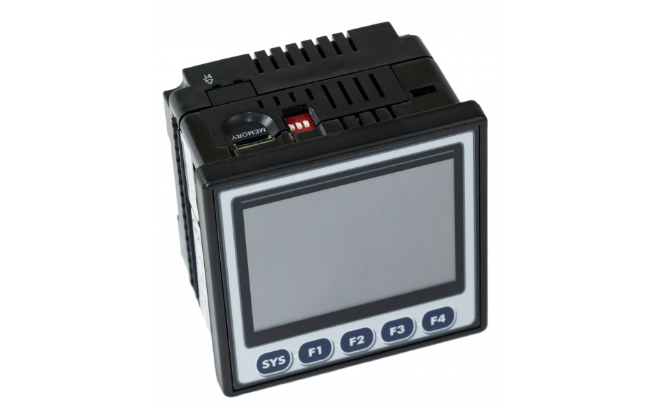 """Sterownik PLC z HMI XL4e - 3.5"""", 12 DI (12/24 VDC), 12 DO (24 VDC), 6 AI (0-10V, 0-20mA, TC, RTD), 4 AO (0-10V, 0-20mA); zasilanie 9-30VDC 9"""