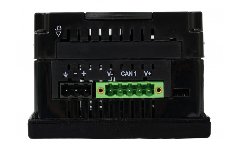 "Sterownik PLC z HMI XL4e - 3.5"", 24 DI (24 VDC), 16 DO (24 VDC), 2 AI (0-10V, 0-20mA); zasilanie 9-30VDC 13"