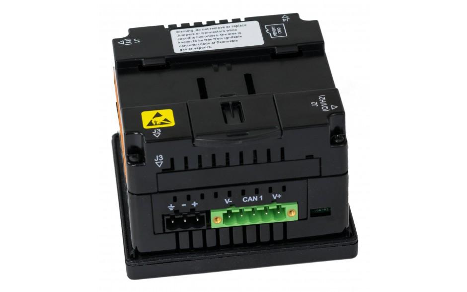 "Sterownik PLC z HMI XL4e - 3.5"", 24 DI (24 VDC), 16 DO (24 VDC), 2 AI (0-10V, 0-20mA); zasilanie 9-30VDC 14"