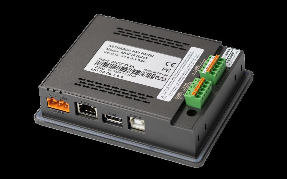 "Dotykowy panel operatorski Astraada HMI, matryca TFT 4,3"" (480x272, 65k), RS232, 3x RS485 USB Client/Host, Ethernet, 30m gwarancji 4"