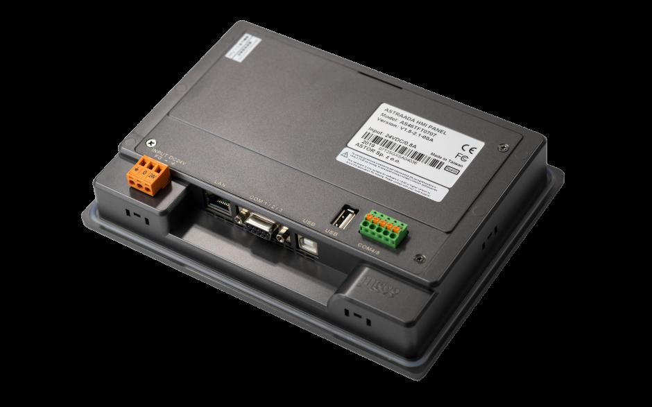 "Dotykowy panel operatorski Astraada HMI, matryca TFT 7"" (800x480, 65k), RS232, RS422/485, 3x RS485, USB Client/Host, Ethernet, 30m gwarancji 5"