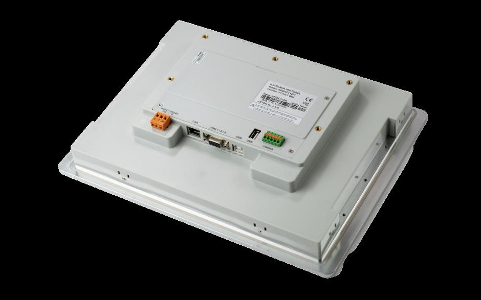 """Wyprzedaż - Dotykowy panel operatorski Astraada HMI, matryca TFT 12,1"""" (1024x768, 65k), RS232, RS422/485, 3x RS485, USB Client/Host, Ethernet,  5"""