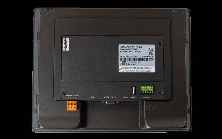 "Dotykowy panel operatorski Astraada HMI, matryca TFT 10,1"" (1024x600, 65k), RS232, RS422/485, 3x RS485, USB Client/Host, Ethernet, 30m gwarancji 4"