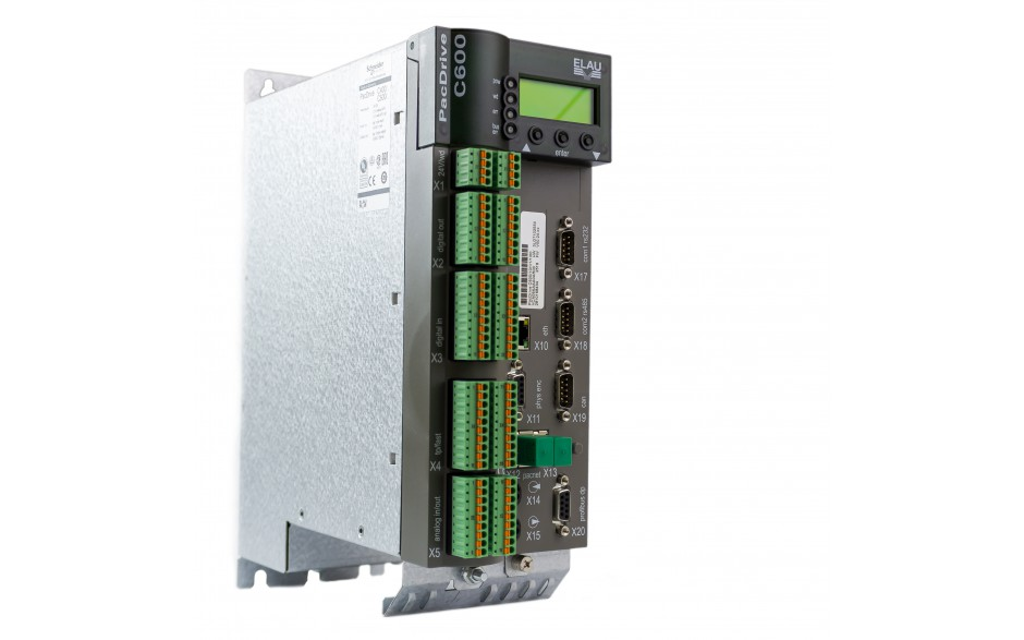 Kontroler ruchu PacDrive C600/10/1/1/1/00, wersja firmware V00.24.xx, 99 osi, 40DI, 16DO, 2AI, 2AO, Master Encoder, Profibus DP, CAN/CANopen, EtherNet/IP