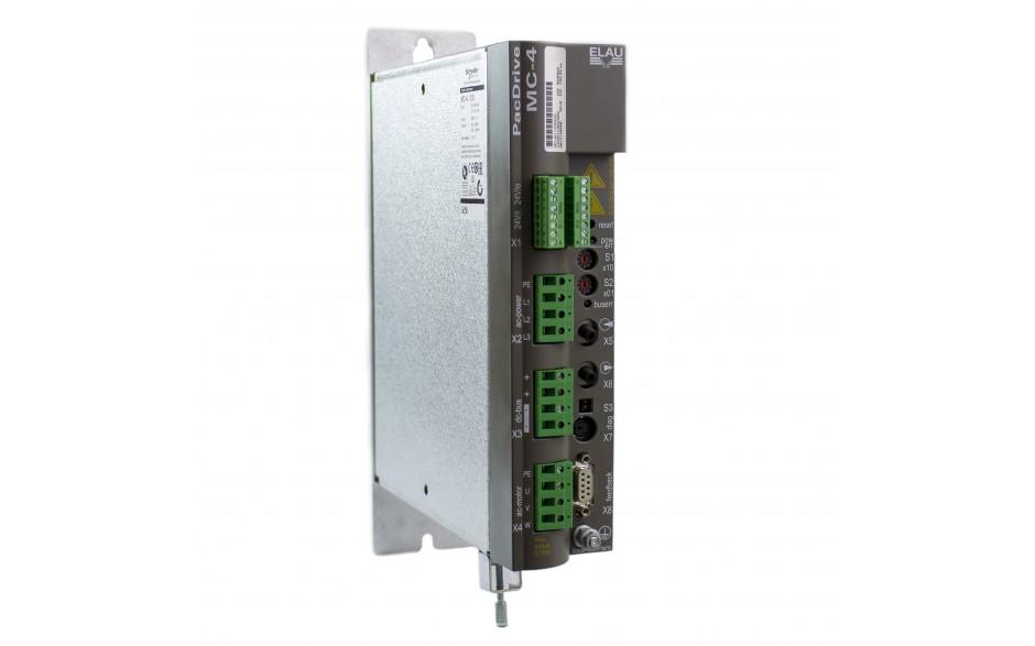 Serwowzmacniacz MC-4/11/10/400, wersja firmware: V00.22.xx, moc 6.9 kW, prąd pracy ciągłej 10 A, zasilanie 3x 380-480 V, sterowanie SERCOS 2