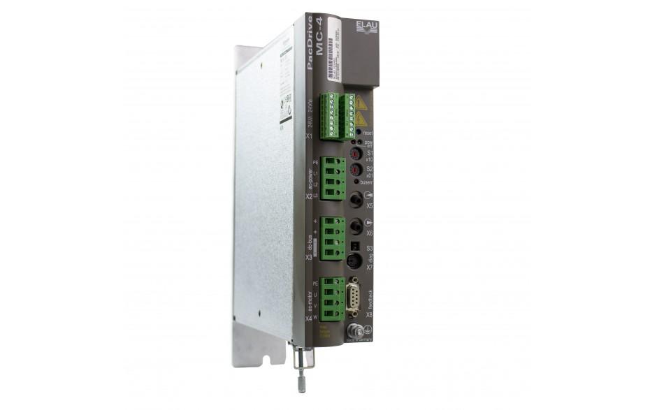 Serwowzmacniacz MC-4/11/10/400, wersja firmware: V00.22.xx, moc 6.9 kW, prąd pracy ciągłej 10 A, zasilanie 3x 380-480 V, sterowanie SERCOS 3