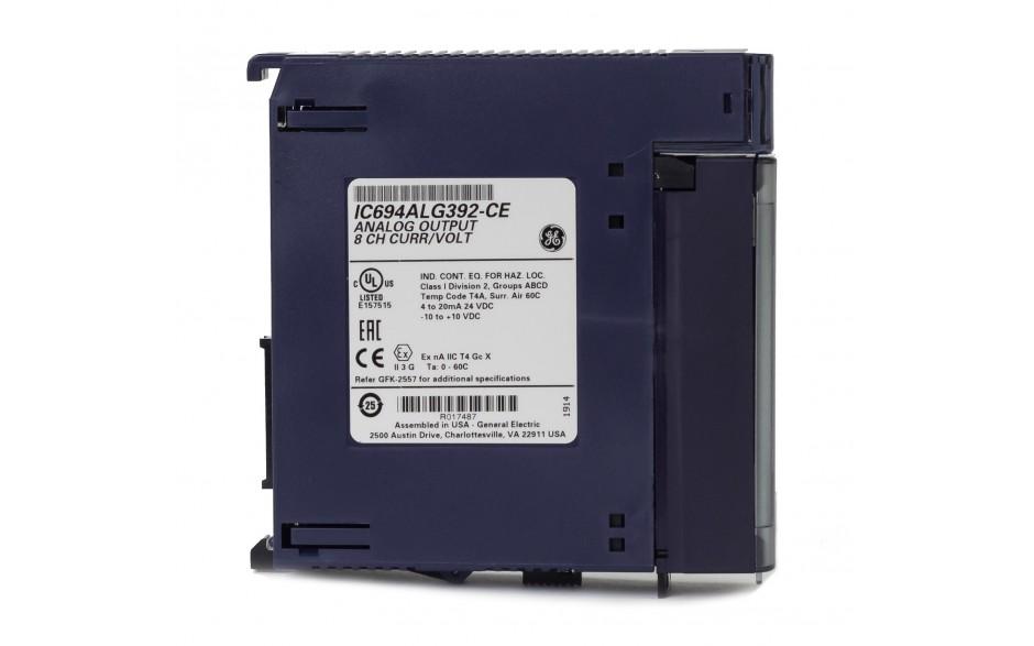 RX3i - 8 wyjść analogowych prądowo-napięciowych (0-20/4-20 mA; 0-10/± 10 V; 15 bitów) 4