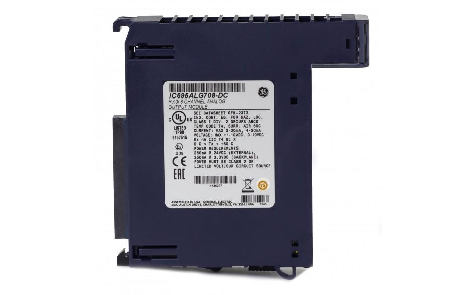 RX3i - 8 wyjść analogowych prądowo-napięciowych (0-20/4-20 mA; 0-10/±10 V; 16 bitów); diagnostyka 3