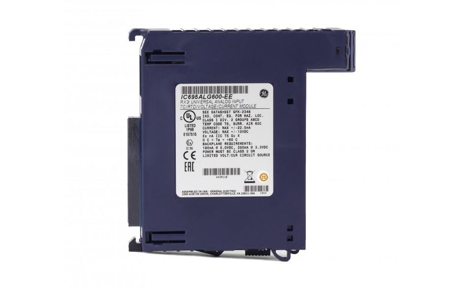 RX3i - 8 wejść analogowych uniwersalnych (0-20/4-20/±20 mA; 0-10/0-5/±5/±10 V; THM; RTD; 16 bitów); diagnostyka 3