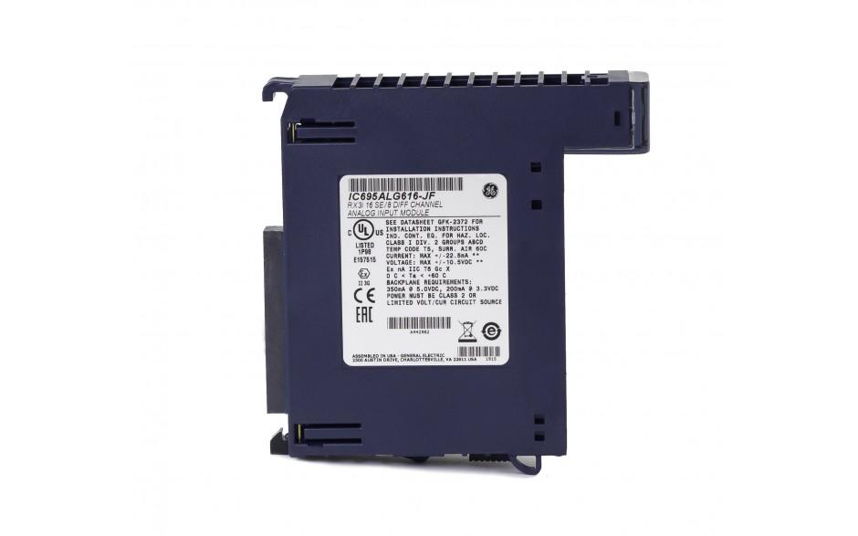 RX3i - 16 wejść analogowych lub 8 wejść różnicowych (0-20/4-20/±20 mA; 0-10/±10 V; 16 bitów); diagnostyka 3