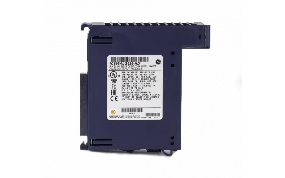 RX3i - 8 wejść analogowych prądowo-napięciowych (0-20/4-20/±20 mA; 0-10/0-5/±5/±10 V; 16 bitów); HART 3